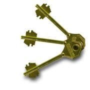 Замок дверной врезной 6-сувальдный БИФ 009 СИМЕКО ригельный