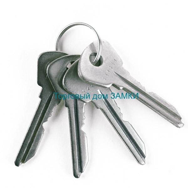 ключи к замку дверному врезному Зенит ЗВ 1-2 с ц.м. без ручек