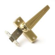 Защелка врезная ЗЩ2-01 ЗЕНИТ дверная золото лак с ручками