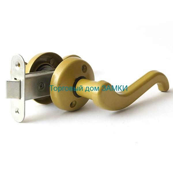 Защелка врезная ЗЩ2-02 ЗЕНИТ дверная золото с ручками