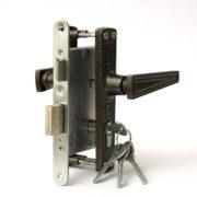 Замок дверной врезной цилиндровый ЗВ4-3.01 ЗЕНИТ бронза с ручками