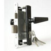 Замок дверной врезной цилиндровый ЗВ4-3.01 ЗЕНИТ черный с ручками