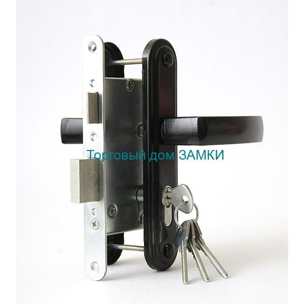 Замок дверной врезной цилиндровый ЗВ4-3.05 ЗЕНИТ с ручками